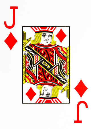 large index playing card jack of diamonds