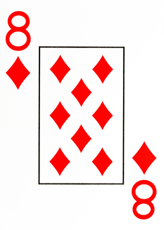 large index playing card 8 of diamonds Stock Photo