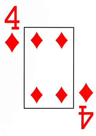 broken strategy: large index playing card 4 of diamonds