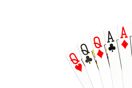 poker hand full house of queens and aces