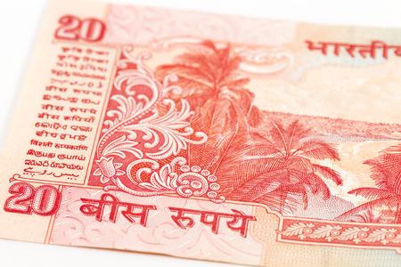 20 indian rupee bank note obverse detail