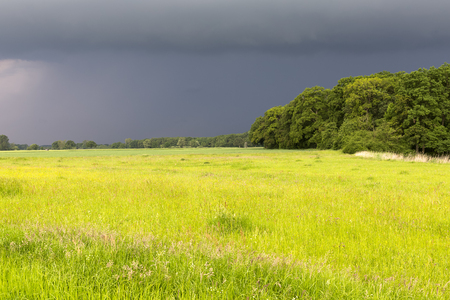upcoming thunderstorm in Lower Saxony Stock Photo