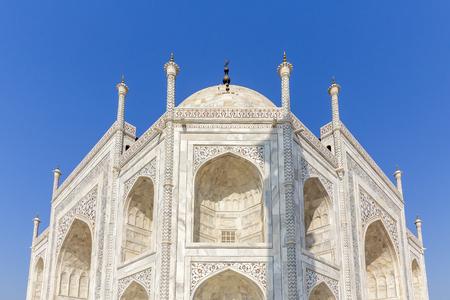 ivory-white facade of the Taj Mahal, Agra, Uttar Pradesh, India Stock Photo