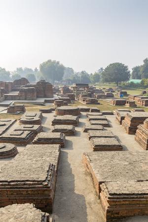 remains of buddhist temple in Sarnath, Varanasi, Uttar Pradesh, India