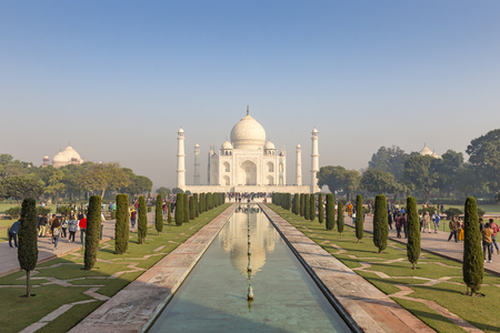 Taj Mahal from main entrance, Agra, Uttar Pradesh, India