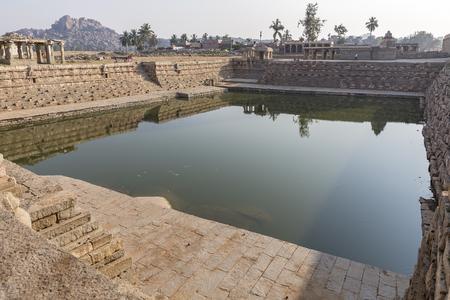 one of the water tanks, Hampi, Karnataka, India Editorial