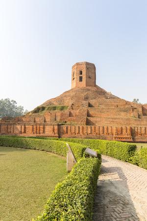 remains of Chaukhandi Stupa Sarnath, Varanasi, Uttar Pradesh, India