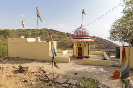 hindu shrine in the  Nahargarh Fort, Jaipur, Rajasthan, India