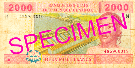 2000 central african CFA franc bank note obverse