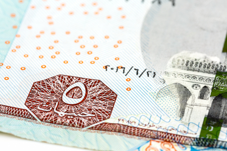 detail of 5 egyptian pound bank note
