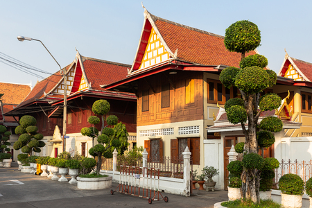 houses of the monks of the Wat Chanasongkhram Ratchaworamahawihan, Bangkok, Thailand, Asia Reklamní fotografie