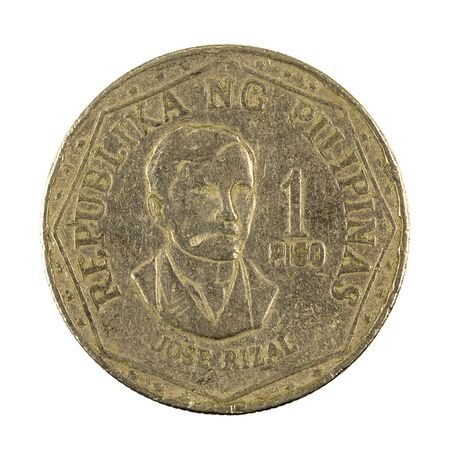 1 philippine peso coin (1978) reverse isolated on white background