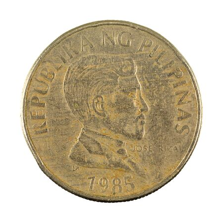 1 philippine peso coin (1985) obverse isolated on white background