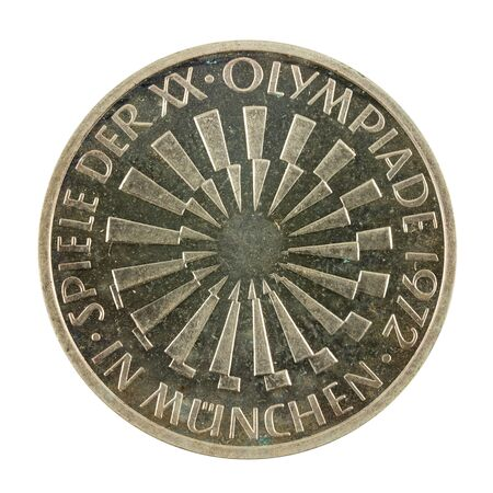 10 german mark coin special edition (1972) obverse isolated on white background Standard-Bild