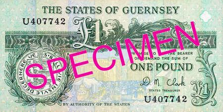 1 Guernsey pound banknote obverse specimen