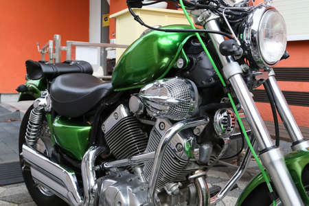 Details of a customized motorcyle