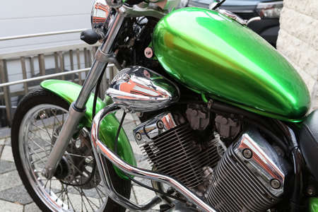 a customized motorcycle