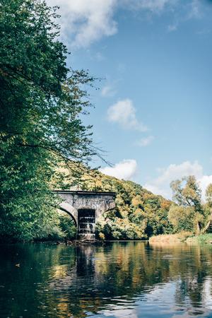 world war 2: Broken bridge from world war 2
