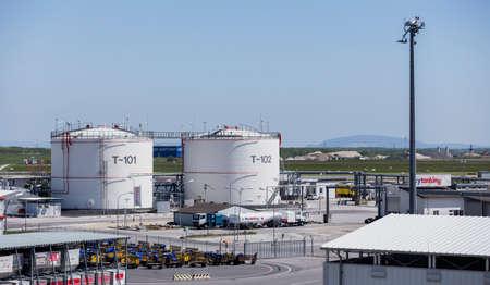 fuel storage: Fuel storage tanks at Vienna International Airport