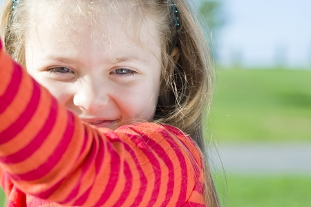 Portrait of little girl on the playground