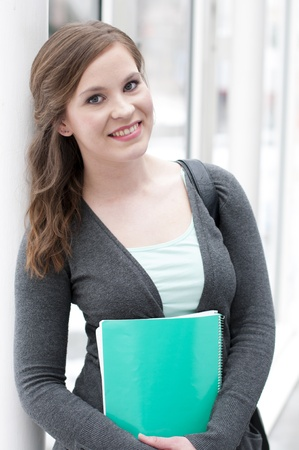Portrait of young female student
