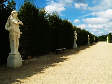 Antique statues in a park photo