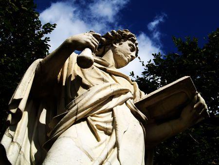 horizontals: Antique statue