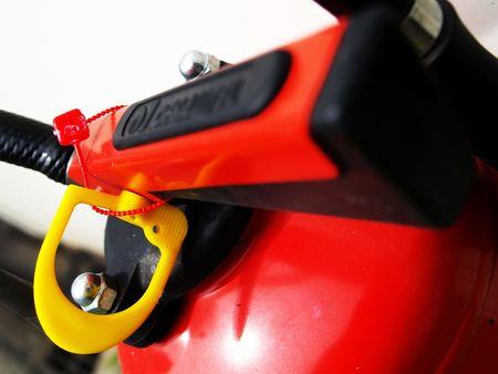 horizontals: Close up of an extinguisher