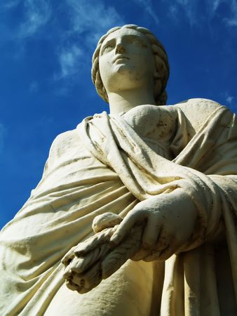 Close up of an antique statue photo