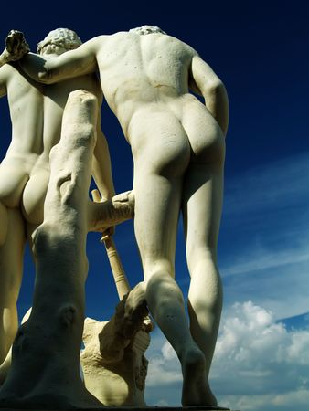 amor gay: Estatua  Foto de archivo