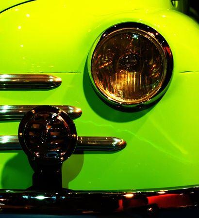 horizontals: Detail of an old car