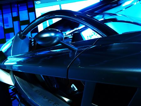 comp�titivit�: D�tail d'une voiture de course  Banque d'images
