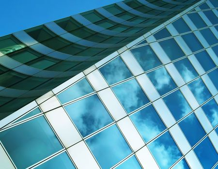 workspaces: Reflection of the sky Stock Photo