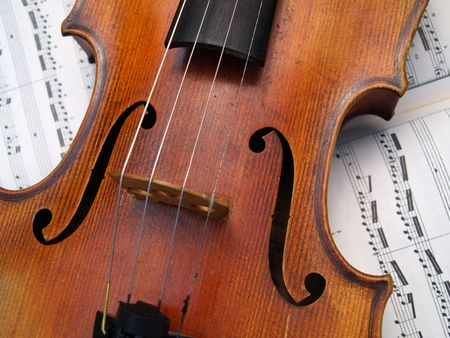 Closeup of a violin Stock Photo - 514315