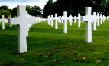 valor: American military cemetery Stock Photo