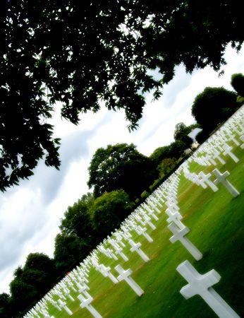 faiths: American military cemetery Stock Photo