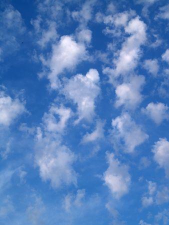 unblemished: Clouds under a blue sky