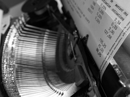 workspaces: Close up of a typewriter Stock Photo