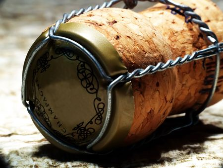 receptions: Close up of a champagne cork