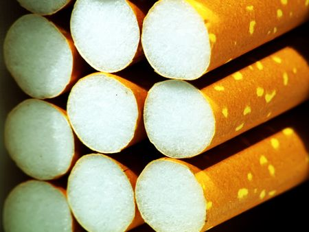 Close up of filter cigarettes Stock Photo - 513969