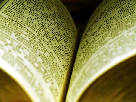printed matter: Close up of a book