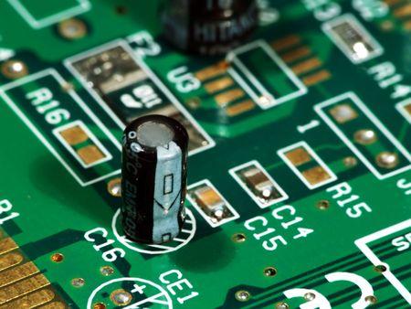 closeups: Close up of a computer card