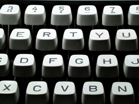 computations: Close up of a typewriter keyboard Stock Photo