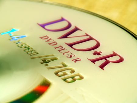 dvdr: Close up of a DVD-R Stock Photo