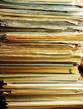 workspaces: Cerca de un mont�n de carpetas  Foto de archivo