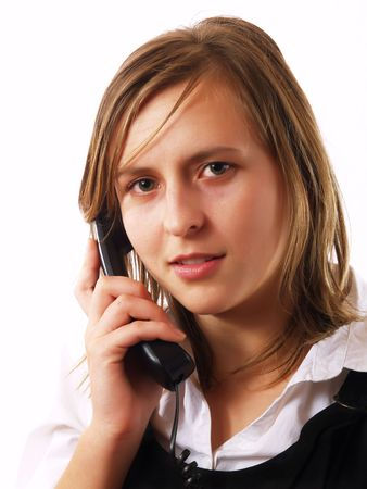 Young businesswoman having a phone call photo