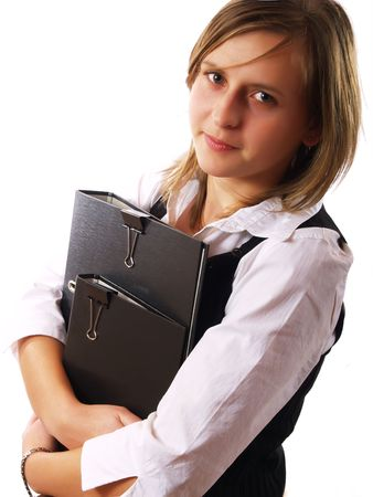 Young businesswoman at work photo