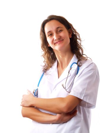 Female doctor smiling Stock Photo - 2510987