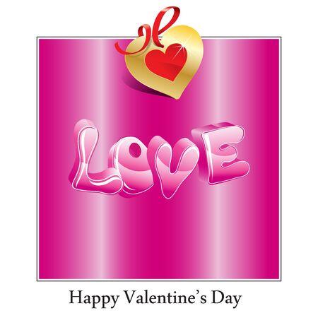 Happy Valentines Day-kaart met hartjes