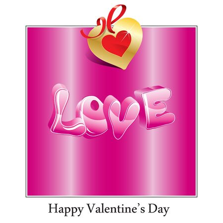 Tarjeta de feliz día de San Valentín con corazones